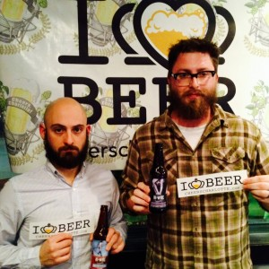 Chris Frosaker and Adam Charnack, co-owners of Hi-Wire Brewery