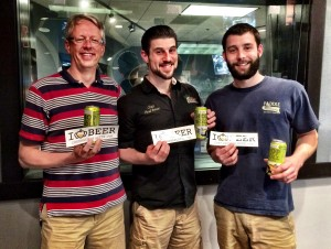 Todd Ford, Chad Henderson and Bart Roberts from NoDa Brewing