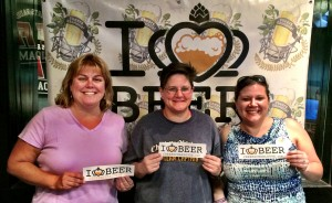The Charlotte Beer Babes- Suzie Ford, Lisa Johnson and Bethany Burr