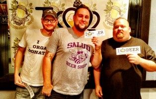 The Homebrew Guru- John Mays, Jason Glunt of Salud Beer Shop, and The Professor- Shawn McBride