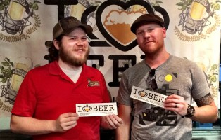 Brian Schonder from NoDa Brewing and Brewmaster Experience winner David Seed.