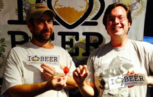 Ed Currie, who runs PuckerButt Pepper Company in Fort Mill, SC and James Bulas who ate an entire Carolina Reaper Pepper in studio.