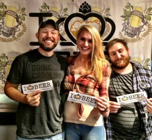 Justin and Sarah Brigham of Sycamore Brewing along with brewer Jordy Smith