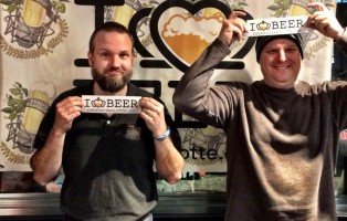 Ryan Self from Olde Mecklenburg Brewery and Max Perkins from Tryon Distributing.