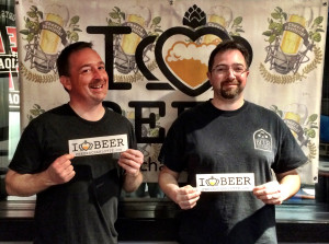 Rob Jacik and Russ Conrad from Carolina Beer Temple.