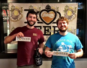 Bart Roberts , lead brewer for NoDa Brewing Co., and John Watkins, head brewer for Lenny Boy Brewing