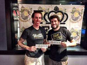 Josh Patton and Dan Wade from Wooden Robot Brewery