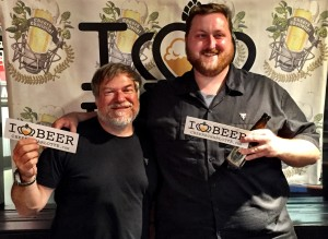 Mike Tourville and brewer Drew Walker from River Rat Brewing