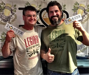 Newton Craver and Phil Buchy of Legion Brewing