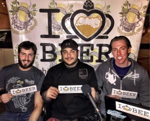 Dan Wade, Chef Rob Masone and Josh Patton from Wooden Robot Brewery and Kre8 Twisted Eats