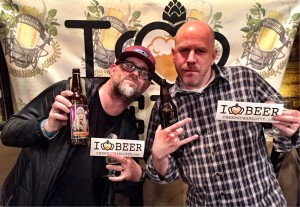Chad Nelson (homebrewer) and Scott Blackwood (The String Bean).