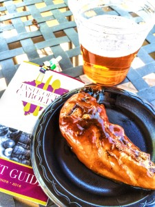 Sweet tea glazed chicken and Sugar Creek pale ale.