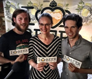 Charlotte musician Justin Fedor with Katie Church and Robert Nesbit from Urban Ministries