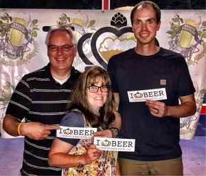 Neil Gimon, owner of The Dreamchaser's Brewery along with his wife Anita Gimon, and head brewer Skylar Leckenmeyer