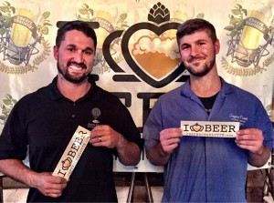 Todd Franklin and Austin Zanella from Sugar Creek Brewing Co