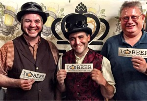 Michael Gellar, Brad Ledbetter and Murray Williamson from Thirsty Nomad Brewing Co