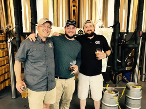 Mark Van Sickle, Zach McNeely and Kevin Reid from Legal Remedy Brewing