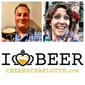Jason Reiner from Charlotte Craft Beer week and Eleanor Talley from NC Craft Beer month